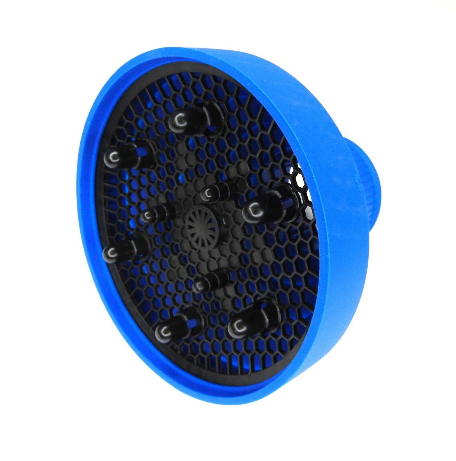 silicone hair dryer diffuser blue