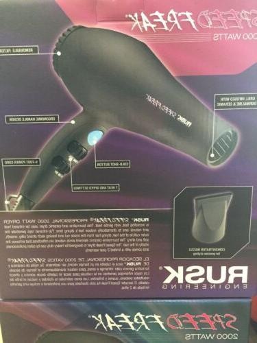 Rusk Dryer 2000 Black Color, New Condition