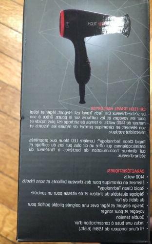 CHI Tech Black Hair Dryer - - IN BOX