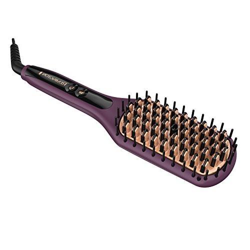 thermaluxe heated straightening brush
