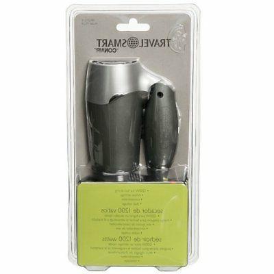 travel smart 1200 watt folding hair dryer