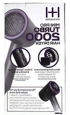 turbo 2000 mini pro hair dryer