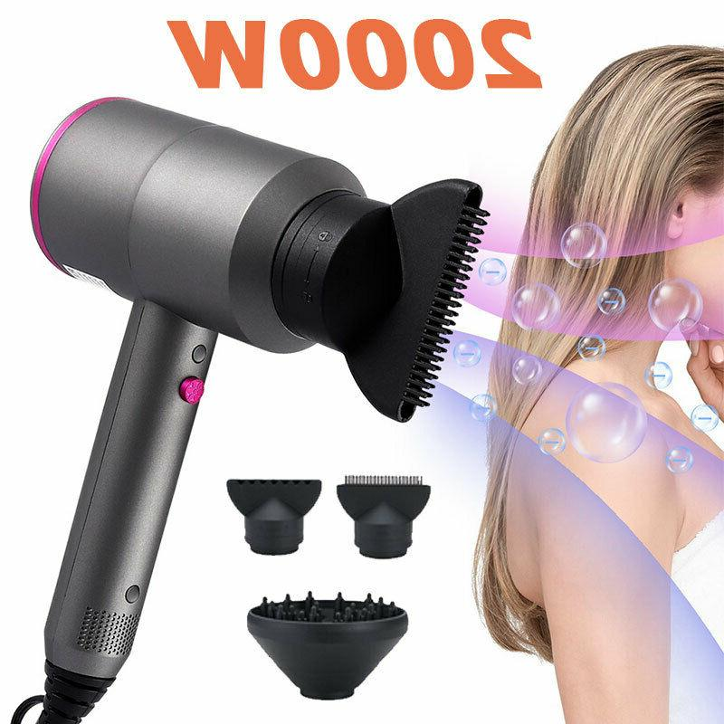 unisex hair dryer over heat protection blue