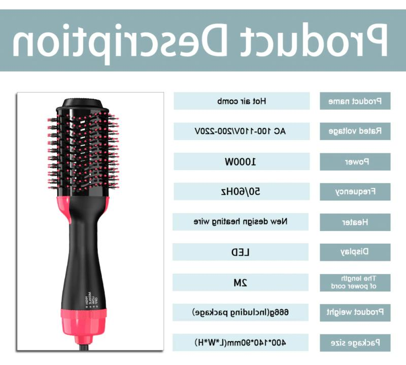 US Blow Dryer Volumizer Curler Brush