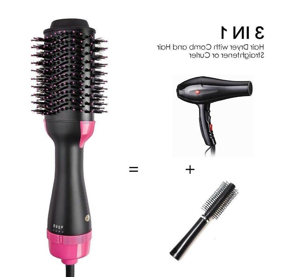 3In1 Hair Dryer Comb Straightening Oval Salon