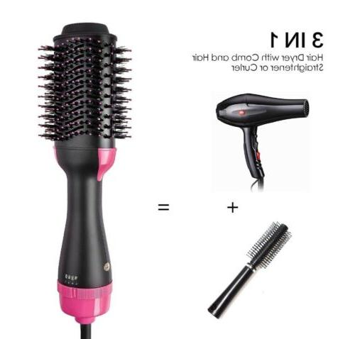 USA 2In1 One Step Hair and Volumizer Brush Comb