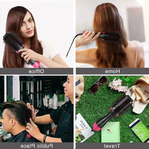 USA 3In1 Hair Dryer Brush Straightening Iron Comb
