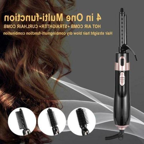 USA 4In1 Step Hair Dryer Volumizer Brush Straightening Iron