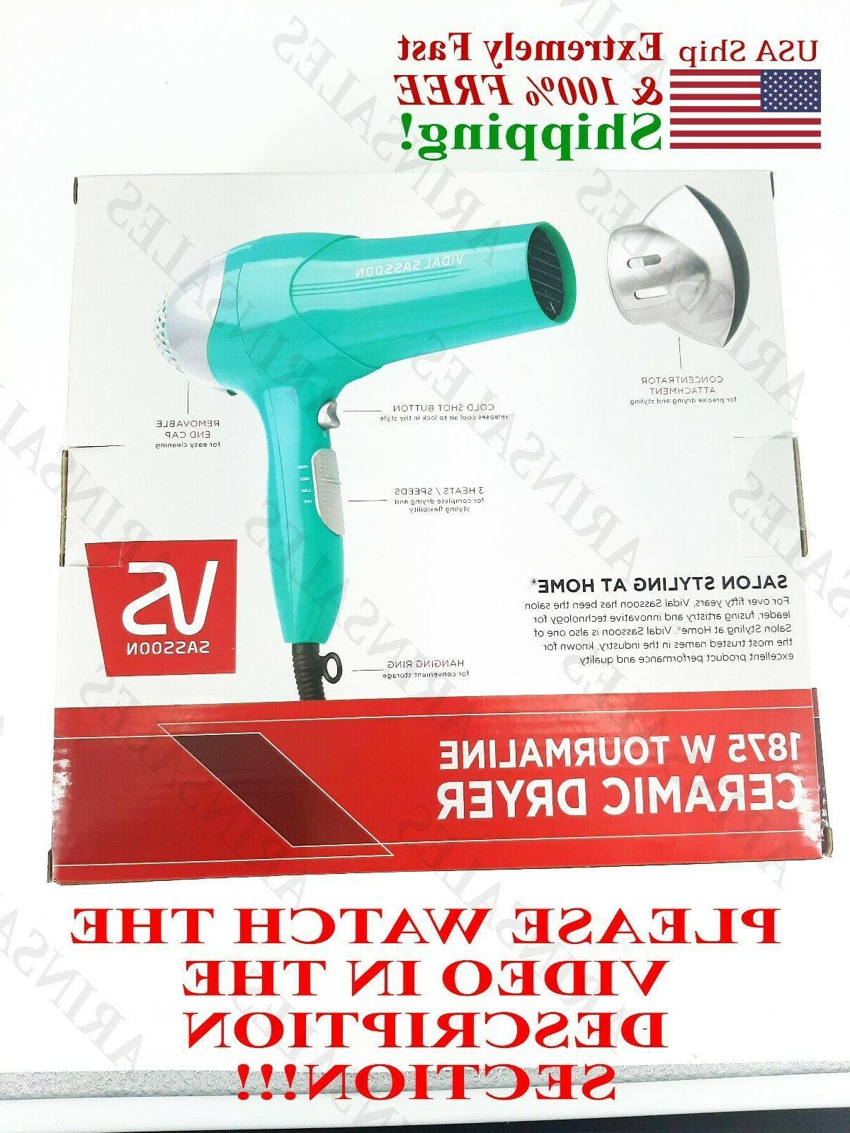 vidal sassoon dryer 1875 hair SEE VIDEO