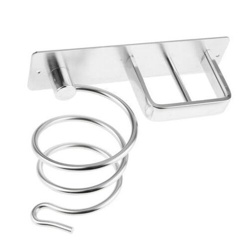 wall mount rack spiral hair dryer holder