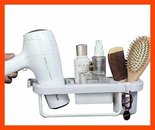 Wall Mounted Hair Dryer Holder Care Tools Hanging Rack Organ