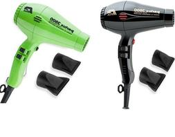 Lot of 2 two Parlux 3800 Professional Hair dryer Green Black