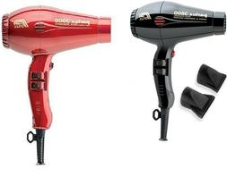 Lot of 2 two Parlux 3800 Professional Hair dryer Red blower