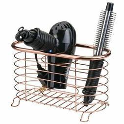 mDesign Bathroom Countertop Storage Organizer Basket for Hai