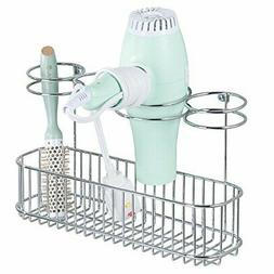 MDesign Metal Wire Cabinet/Wall Mount Hair Care &amp Styling