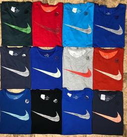 Men's Big and Tall Nike Dry Dri-Fit Athletic Cut Cotton Tee