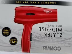 CONAIR Mid-Size Hair Styler / Dryer - 1875 Watts - 2 Speed -