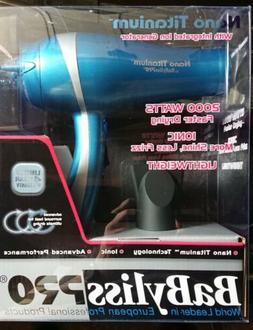 Babyliss Pro Nano Titanium Ionic Lightweight 2000 Watts Hair