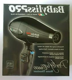 nano titanium portofino 6600 hair dryer black