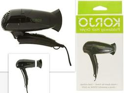 Korjo Small 1200W Travel Size Foldable Compact Hair Dryer/Ha