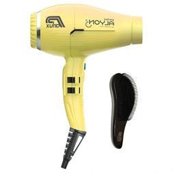 Parlux New Alyon Hairdryer in Yellow + free Yogi detangle br