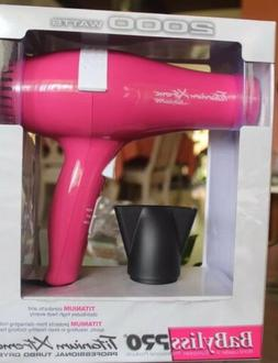 New BaByliss Pro Titanium Xtreme Professional Turbo Dryer 20