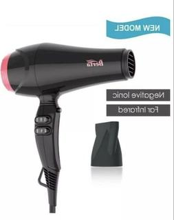 NIB Berta Professional Hair Dryer Ceramic Negative Ionic Blo
