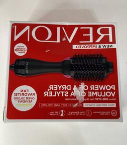Revlon One Step Hair Dryer and Volumizer Brush Black and Pin