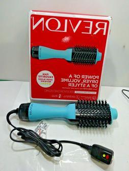 Revlon One-Step Hair Dryer & Volumizer Hot Air Brush Teal/Bl