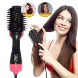 One Step Hair Dryer Volumizer Brush Comb Straightening Curli