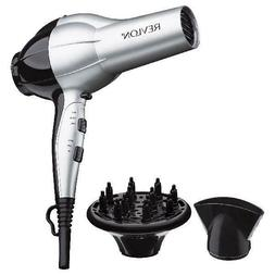 Revlon Perfect Heat Ceramic Ionic Hair Dryer, Silver with Co