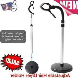 Portable Floor Type Hair Dryer Holder Hands Free Removable S