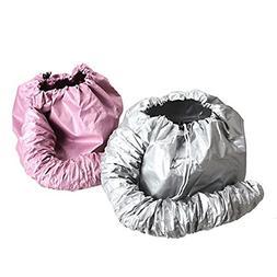 KINGZHUO 2 Pcs  Portable Safe Women Hair Dryer Soft Bonnet H