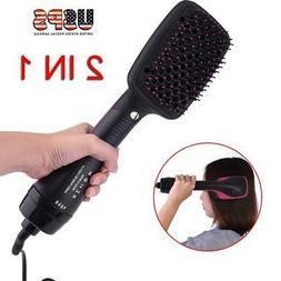 Pro 2-in-1 Lonising Paddle Brush Hair Dryer Women Salon Hair
