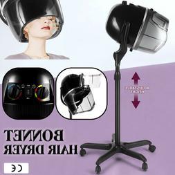 Pro Adjustable Bonnet Hair Dryer Timer Swivel Hood Caster Sa