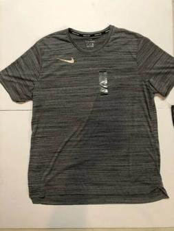 Nike Pro Dry fit Mens Gray Short-Sleeve Top Shirt Active Sta