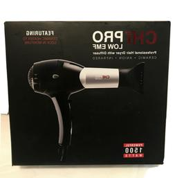 CHI PRO Low EMF Hair Dryer with Diffuser 1500 Watts