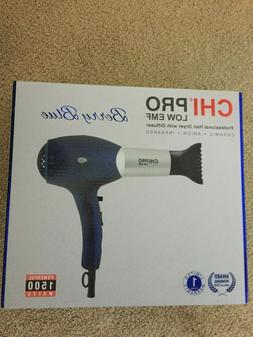 CHI Pro Low EMF Professional Hair Dryer with Diffuser  Berry