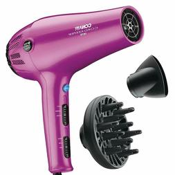 Professional Conair 1875 Watt Cord-Keeper Hair Dryer; Pink