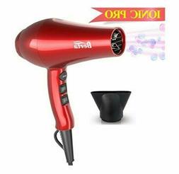 Professional Ionic Hair Dryer, Berta Lightweight Powerful 18
