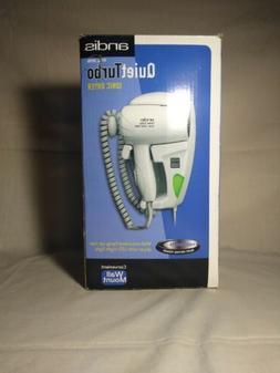 Andis Quiet Turbo Ionic 1600 Watt Hair Dryer Wall Mount HD-1