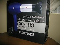 CHI Radiant Indigo Rubberized Metallic Pro Hair Dryer w/ Dif