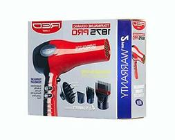 RED by KISS 1875 ProW Ceramic Tourmaline Hair Dryer with 4 A