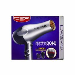 Red by Kiss 2400 Tourmaline Ceramic Hair Dryer with 3 Detang
