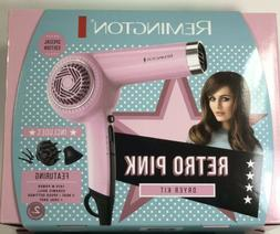 Remington Retro Pink Limited Edition Hair Dryer Gift Pack No