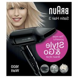 Braun Satin Hair 3 HD350 Style & Go Dryer Hair Travel Foldab