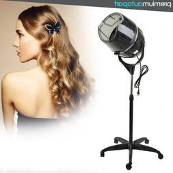 Standing Bonnet Hair Dryer w/ Timer Swivel Hood Caster Salon