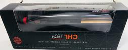 "CHI TECH 3/4"" TRAVEL BLACK CERAMIC HAIRSTYLING IRON-NEW IN B"