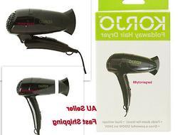 Korjo Lightweight Fold Hair Dryer Blower Travel Mini Compact