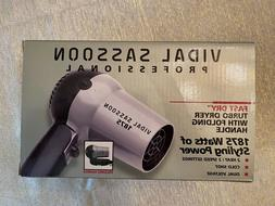 Vidal Sassoon Travel Hair Dryer 1875 watts Folding for Campi